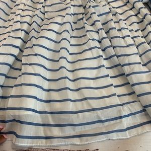 Zara Skirts - Zara Striped button waist pleated midi skirt